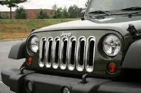 Rugged Ridge Grille Inserts Jeep Jk Jeep Wrangler Grill Insert Applique Mopar 130620rr 130630rr