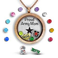 locket necklace with charms images Army mom necklace military mom gift army mother jewelry gifts jpg