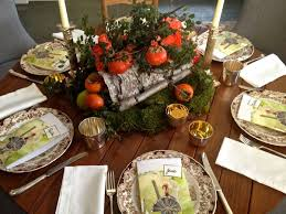 thanksgiving day flowers holiday centerpiece with birch bark foliage fruit and flowers