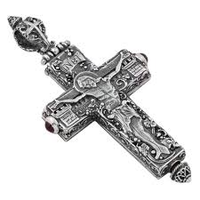 necklace crucifix cross images St167 sterling silver medieval byzantine crucifix cross pendant jpg