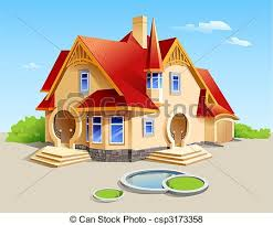 beautiful house clipart 31