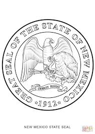 New Mexico State Map by New Mexico State Seal Coloring Page Free Printable Coloring Pages