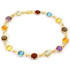multi colored stones necklace images 14k gold multi colored gemstone bracelet JPG