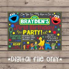 template free printable diy sesame street birthday party