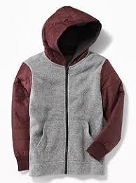 boys sweater sweater fleece trim hoodie for boys navy