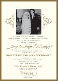 Wedding Invitations How To Sample 50th Wedding Anniversary Invitations Iidaemilia Com