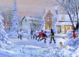eurographics the original six 1000 piece puzzle the original six all hockey players and enthusiasts have a memory of the first time they played hockey the pond hockey wall mural will bring you memories alive