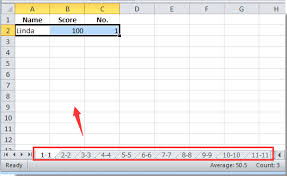 how to create new sheets for each row in excel