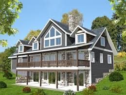 front sloping lot house plans small lakefront house plans and