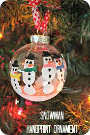 diy ornaments snowman handprint ornament diy