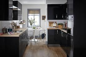 Black Gloss Kitchen Cabinets It Santini Gloss Black Slab Diy At B Q Home Ideas Pinterest