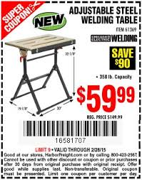 harbor freight welding table harbor freight folding table images centipede ultimate collapsible