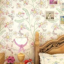 aliexpress com buy modern bedroom cartoon floral wallpaper kids