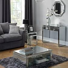 Mirrored Living Room Furniture | venetian mirrored living room collection dunelm