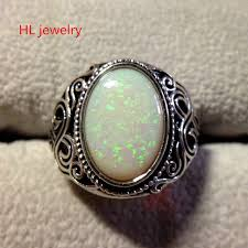 white fire rings images 9g gift fire opal 10x15mm oval 925 sterling silver jewelry thai jpg