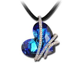 swarovski heart necklace blue images Best swarovski blue heart necklace photos 2017 blue maize jpg