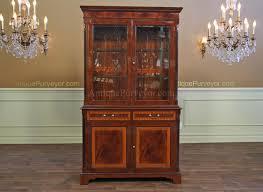 mahogany china cabinet furniture two door high end mahogany china cabinet on sale