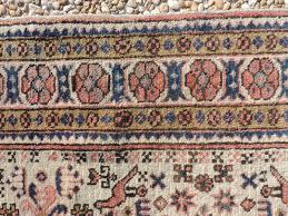Pink Oriental Rug Vintage Persian Leski Rug 3x5 Medium Neutral Tones Ivory Pale
