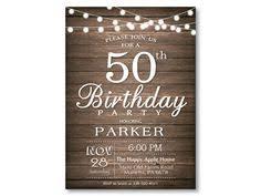 rustic surprise birthday invitation birthday party 20th