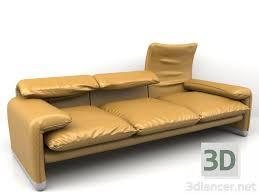 modèle de canapé 3d modèle canapé 675 maralunga 40 télécharger 3dlancer