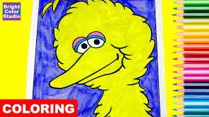 coloring pages big bird sesame street coloring book crayola