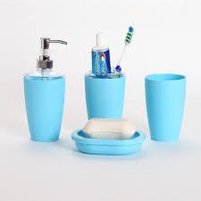 4pcs Suit Plastic Bathroom Accessories Set Bath Cup Toothbrush