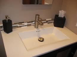 How To Install Bathroom Vanity Top How To Install A Backsplash On A Vanity