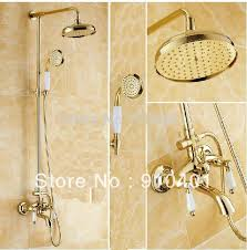 New Shower Faucet Wholesale And Retail Promotion New Luxury Home Hotel Golden Shower