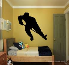 Hockey Wall Mural Hockey Wall Decals Hockey Wall Giftshockey Decorhockey Wall