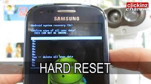 reset factory samsung s3 mini hard reset s3 mini gt i8190 samsung galaxy factory reset android