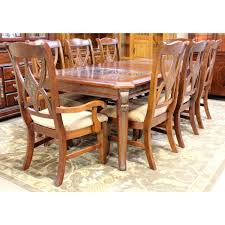 distressed pine table with 8 chairs upscale consignment