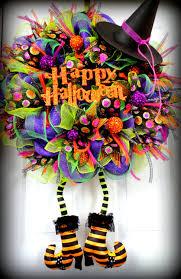halloween lime purple u0026 black deco mesh witch wreath fall wreath