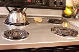 Clean Stainless Steel Cooktop Kitchen Smooth Top Stainless Steel Stove And Built In Micro Wave