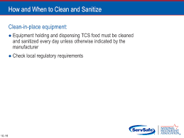 objectives different methods of sanitizing and how to make sure