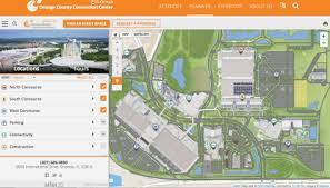 orange county convention center map orange county convention center launches map with