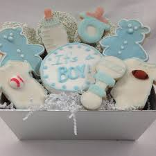 cookie basket custom cookie basket by manny s it s a boy cookie basket