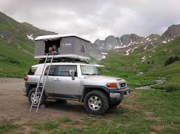 fj cruiser james baroud usa rooftop tent living combo