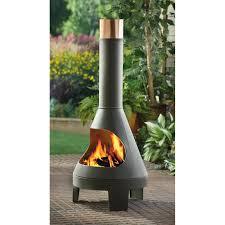 guide gear chiminea grill 215987 fire pits u0026 patio heaters