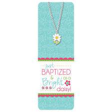 baptism necklace baptism bookmark necklace