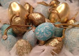 gold easter eggs mod podge and gold leaf easter eggs diy marinobambinos