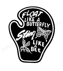 float like a butterfly sting like a bee trademark owner the