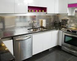 aluminum backsplash houzz