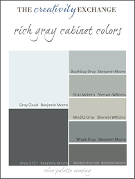 collection of some the most popular gray paint colors used for