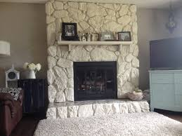 How To Clean Walls For Painting by Painted Rock Fireplace Huge Improvement Makes The Room Feel So