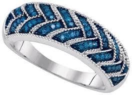 Blue Diamond Wedding Rings by Ct Blue Diamond Fancy Vintage Wedding Ring White Gold
