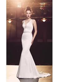 fitted wedding dresses buy discount fitted satin v neck mermaid wedding dresses with belt