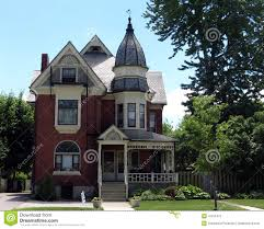 turret house plans victorian home with turret stock image image of tower 41815473