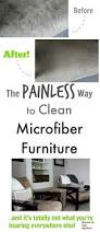 How To Clean Microfiber Sofa At Home The Painless Way To Clean Microfiber Furniture The Creek Line House