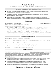 Entry Level Pharmacy Technician Resume Help Desk Resume Qualifications Examples Help Desk Resume Sample