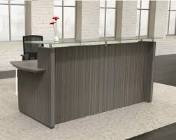 Contemporary Reception Desks Stg33 Glass Accented Reception Desk By Mayline